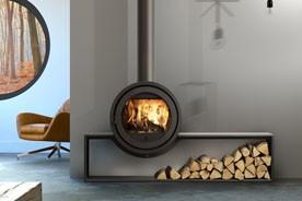 po les bois odin front fonte flamme. Black Bedroom Furniture Sets. Home Design Ideas