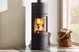po les bois novia plus noir fonte flamme. Black Bedroom Furniture Sets. Home Design Ideas