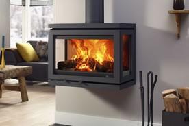 po les bois vidar wall fonte flamme. Black Bedroom Furniture Sets. Home Design Ideas
