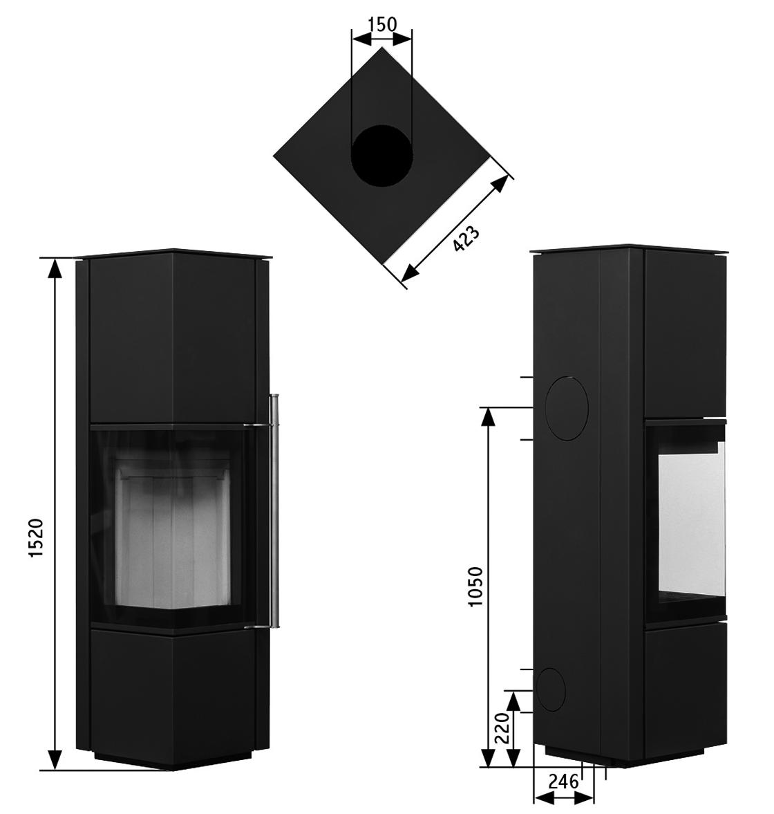 po les bois canto ams fonte flamme. Black Bedroom Furniture Sets. Home Design Ideas